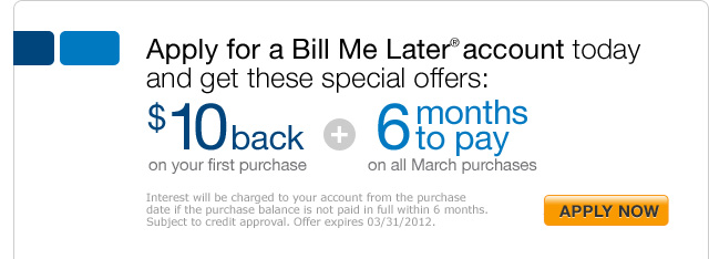 who accepts paypal bill me later